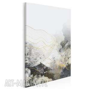 obraz na płótnie - abstrakcja fale w pionie 50x70 cm 60703