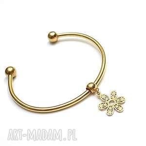 alloys collection - flower gold bransoletka, obręcz, kwiat, romantyczna