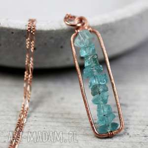 925 18k różowo pozł łańcuszek akwamaryn - kamień, akwamaryn