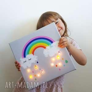 świecący obraz tęcza prezent dziecko dekoracja, obraz, dziecka