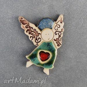 magnes ceramiczny aniołek , magnes, ceramiczny, anioł, walentynki dom