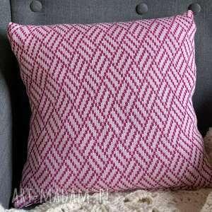 poszewka na poduszkę bawełna wzorek 1 jasny róż, poduszka, poszewka