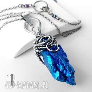 Prezent Frozen I srebrny naszyjnik z kwarcem tytanowym, naszyjnik, kwarc, tytan