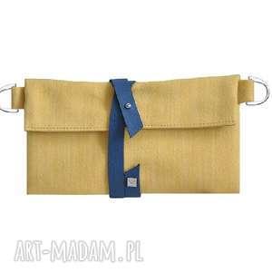 28-0005 Żółty organizer do torebki na damskie dodatki DAISY, małe-kopertówki