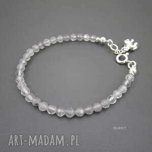 słonik na szczęście - kwarc, srebro, bransoletki biżuteria