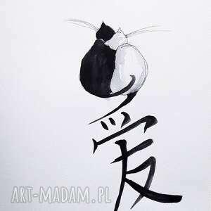 """""""chiński znak miłości - nietypowe love"""" chińska kaligrafia"""