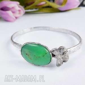 hand-made bransoletki wiosenna zieleń - bransoletka