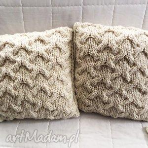 wools poduszki robione ręcznie wełna 40x40 cm 2szt, poduszki, poduszka