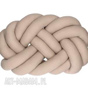 ręcznie robione poduszki pleciona dekoracyjna poduszka supeł precel knotpillow