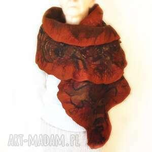 ręczne wykonanie szaliki szal nuno ręcznie filcowana wełna