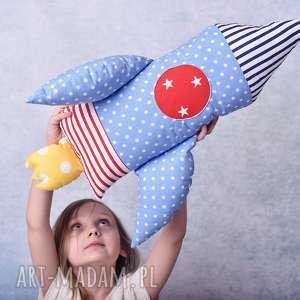 hand made maskotki poduszka dziecięca rakieta