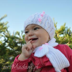 czapka Pink Lady, czapka, niemowlęca, antyalergiczna, włóczka