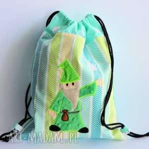 worek plecak z czarodziejem - plecak, worek, czarodziej, magia, chłopczyk