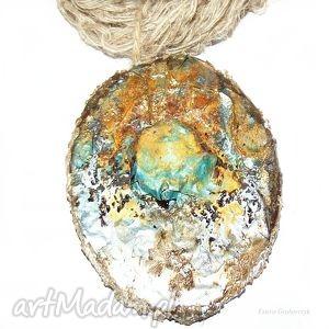 prezent na święta, artystyczny eko naszyjnik, wisior