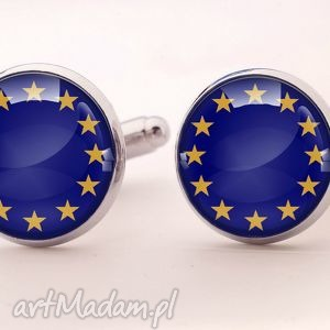unia europejska - spinki do mankietów - unia, europejska, flaga, spinki, mankietów