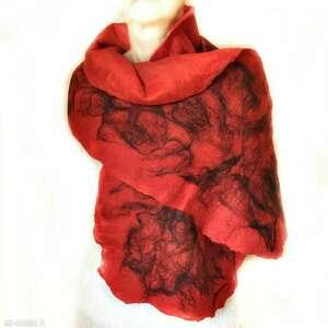 ręcznie wykonane szaliki szal nuno filcowana wełna