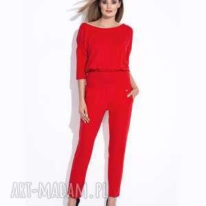bien fashion piękny kombinezon damski z zamkiem na plecach, kieszenie, długi, zamek