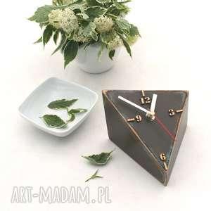 Prezent Zegar drewniany biurkowy SPICY recznie malowany, drewno,