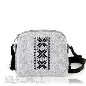 handmade torebki torebka filcowa mini romby 0212