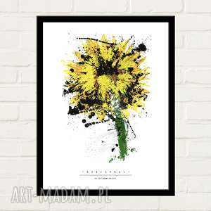 Sunflower Painted Plakat 30x40, minimalizm