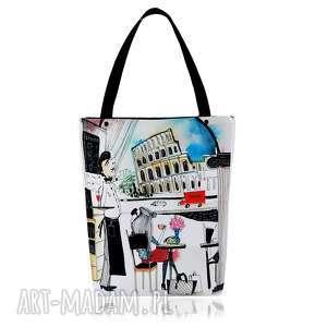 torebka shopperka 1311 rome - praktyczna, pojemna, duża, grafika