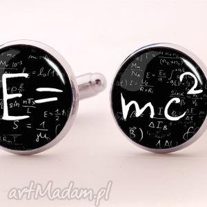 e mc2 - spinki do mankietów, matematyczne, einstein, emc2