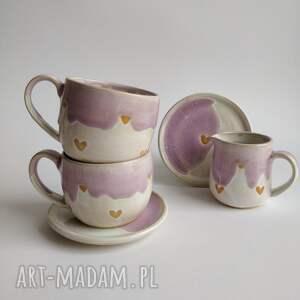 ceramika zestaw składający się z dwóch filiżanek i dzbanuszka 4, filiżanka