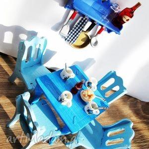 mebelki dla lalek, mebelki, lalka, jadalnia, stół dziecka, prezent na święta