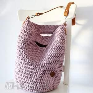 handmade na ramię szydełkowa torba typu worek