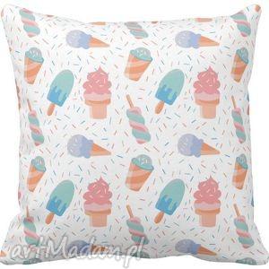 Poszewka na poduszkę dziecięca słodkie lody 3050 , poszewka, lody, icescream
