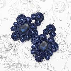 handmade kolczyki kolczyki nexite dark sapphire soutache