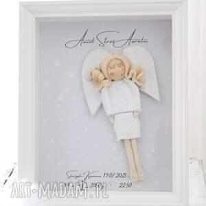 hand-made pokoik dziecka anioł opiekuńczości elegancka metryczka