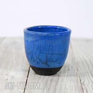 Czarka niebieska Raku, herbata, do-herbaty, ceramika, kubek, użytkowa