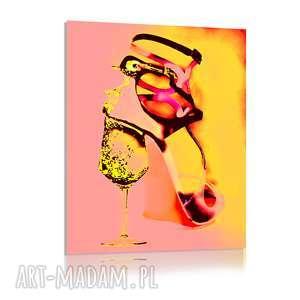 Heels and bubbles, szpilki, moda, obraz, nowoczesny, autorski, unikatowy