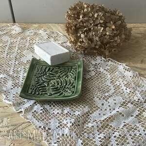 mydelniczka ceramiczna gęstwina, mydelniczka, handmade
