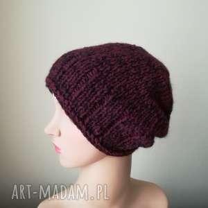 czapki wyjątkowy melanż czapka, rękodzieło, melanż, bezszwowa, prezent, zima
