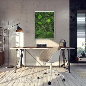 ręcznie wykonany obraz z naturalnego mchu w ramie 70x50 cm