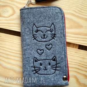 filcowe etui na telefon - kotki, smartfon, pokrowiec, futerał, prezent