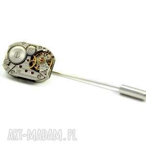 oryginalny prezent, drobinyczasu pin - rectangle, pin, rękodzieło, mechanizm