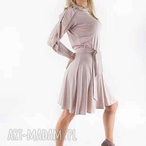 sukienki sukienka paryżanka nude latte, spodnie, dres, bluza