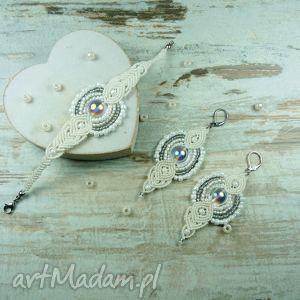 komplet biżuterii ślubnej z koralików, ślubna, ślubny, komplet, biżuteriaślubna