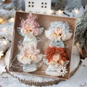 paczuszka uroczych aniołków, w eko pudełeczko z efektem szklanej szybki boże