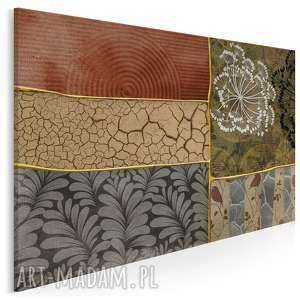 obraz na płótnie - elegancki patchwork 120x80 cm 32601, patchwork, rośliny