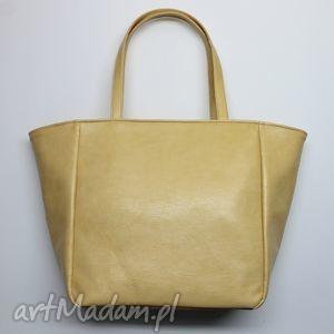 b02f0c2e71a86 Beżowe torebki na ramię worek sackwyprzedano. shopper bag worek -  biszkoptowy z połyskiem, prezent, worek, shopper, hobo,