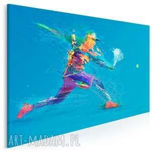 obraz na płótnie - tenis sport 120x80 cm 39401, sport, sportowiec, tenis, tenisista