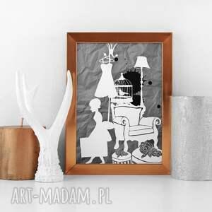 ilustracja, grafika, a3, ilustracja, plakat, 30x40cm, obraz, świąteczny