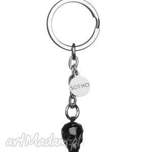 handmade breloki brelok do kluczy czarna czaszka kryształowa czacha skull swarovski® elements