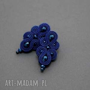 handmade kolczyki kobaltowe kolczyki sutasz