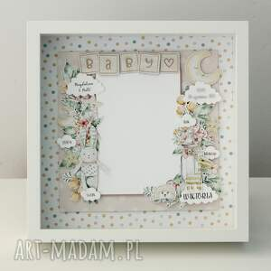 metryczka na narodziny dziecka, ramka zdjęcie, ramka, narodziny, króliki