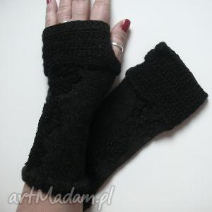 rękawiczki mitenki - rękawiczki, mitenki, dodatki, wełniane